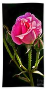 Rose And Buds Hand Towel