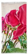 Roses In White Hand Towel