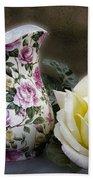 Roses Speak Of Romance Bath Towel