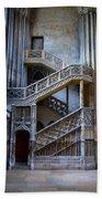 Rouen Cathedral Stairway Bath Towel