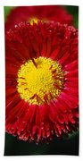 Round Red Flower Bath Towel