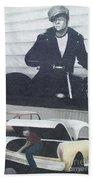 Route 66 Marlon Brando Mural Bath Towel