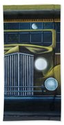 Route 66 Motel Mural Bath Towel