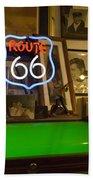 Route 66 Neon Sign 1 Bath Towel