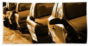 Row Of Cars Bath Towel