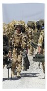 Royal Marines Haul Their Equipment Bath Towel