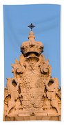 Royal Palace In Madrid Architectural Details Bath Towel