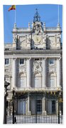 Royal Palace In Madrid Hand Towel