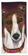 Royalty - Greyhound Painting Bath Towel
