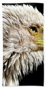 Ruffled Bald Eagle Bath Towel