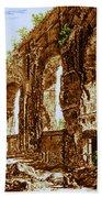 Ruins Of Roman Aqueduct, 18th Century Bath Towel