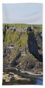 Ruins On Coastal Cliff Bath Towel