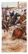 Russell Cowboy Art, 1909 Bath Towel