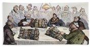 Russian Cartoon, 1854 Bath Towel
