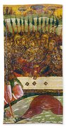 Russian Icon: Dice Players Bath Towel