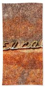 Rusted Antique Chevrolet Logo Bath Towel