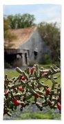 Rustic Cactus Abandoned Barn Bath Towel