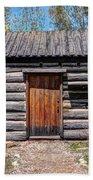 Rustic Pioneer Log Cabin - Salt Lake City Bath Towel