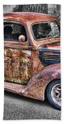 Rusty Old Truck  Bath Towel