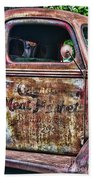 Rusty Truck Door Bath Towel