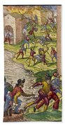 Sack Of Cartagena, C1544 Bath Towel
