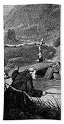 Sadler: Fishing, 1875 Bath Towel