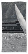 Sailing Boat And Passenger Boat Bath Towel