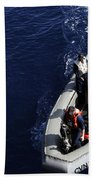 Sailors Stand Watch On A Rigid-hull Bath Towel