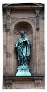 Saint Peter Statue - Historic Philadelphia Basilica Bath Towel