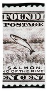 Salmon King Of The Rivers Bath Towel