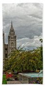 Salt Lake City Temple Grounds Bath Towel