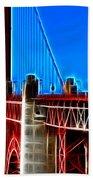 San Francisco Golden Gate Bridge Electrified Bath Towel
