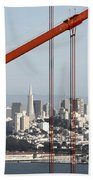 San Francisco Through The Cables Bath Towel