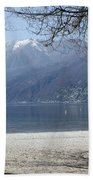 Sand Beach On An Alpine Lake Bath Towel
