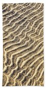 Sand Ripples In Shallow Water Hand Towel