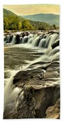Sandstone Falls At Dusk Bath Towel