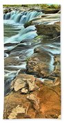 Sandstone Falls In The New River Bath Towel