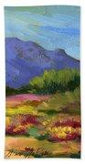 Santa Rosa Mountains In Spring Bath Towel