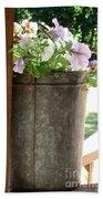 Sap Bucket Planter Bath Towel