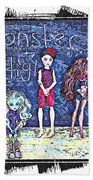 Sarah's Monster High Collection Sketch Bath Towel