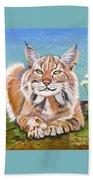 Sassy Lynx Bath Towel
