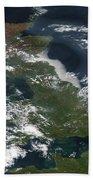 Satellite Image Of Smog Over The United Bath Towel