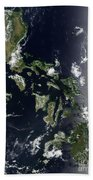 Satellite Image Of The Philippines Bath Towel