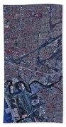 Satellite View Of Buffalo, New York Bath Towel