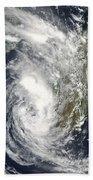 Satellite View Of Cyclone Giovanna Bath Towel