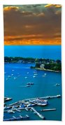 S.bass Is. Lake Erie Bath Towel