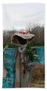 Scarecrow Garden Art Bath Towel