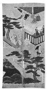 Scenes From The Tale Of Genji Bath Towel