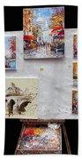 Scenes Of Paris For Sale Bath Towel