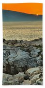 Schoodic Sunset Bath Towel